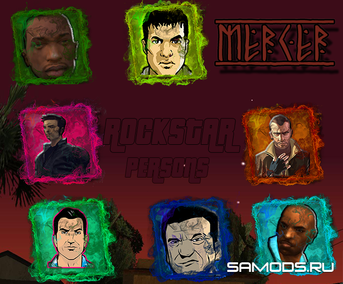 ROCKSTAR PERSONS FIST PACK||Пак фистов с протагонистами игр GTA